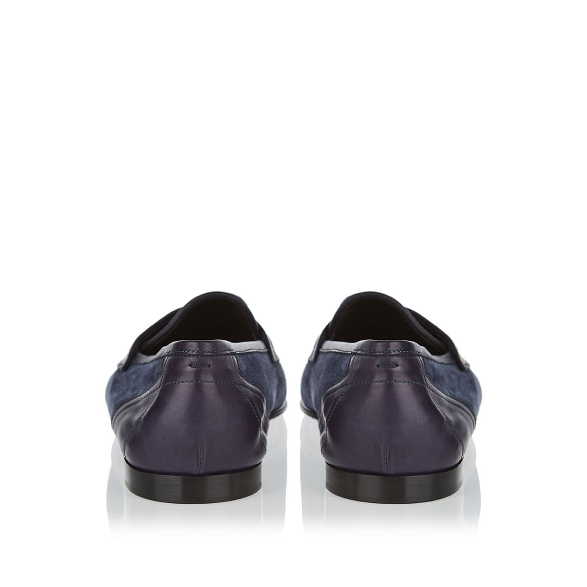 Suede and leather loafers