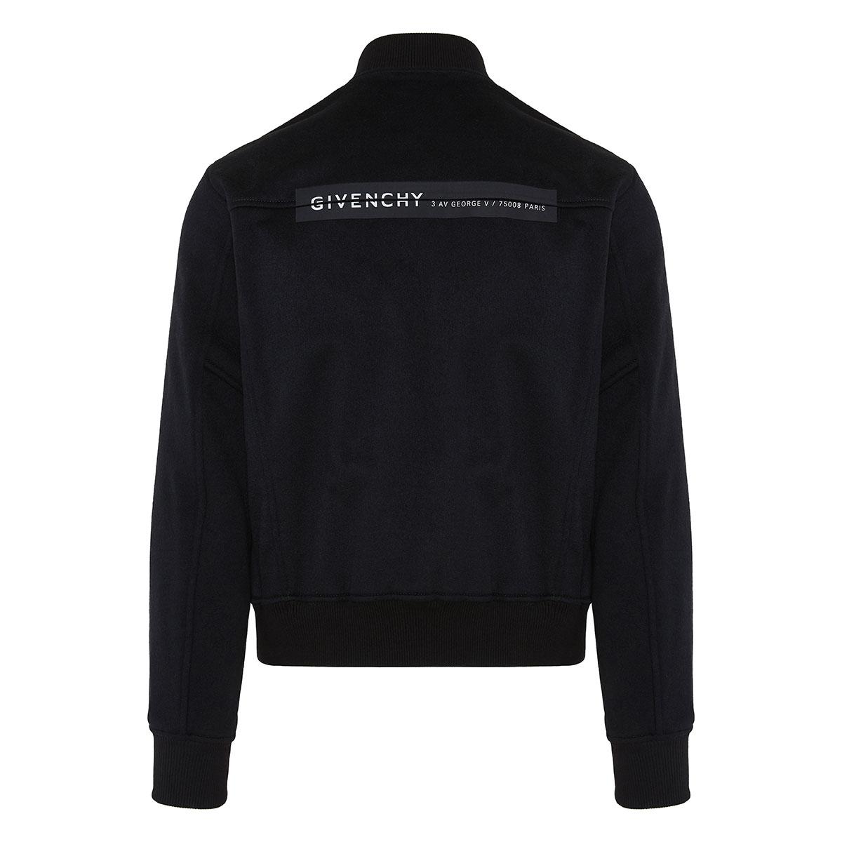 Logo wool bomber jacket