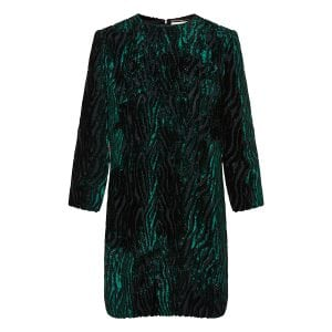 Jacquard lamè velvet mini dress