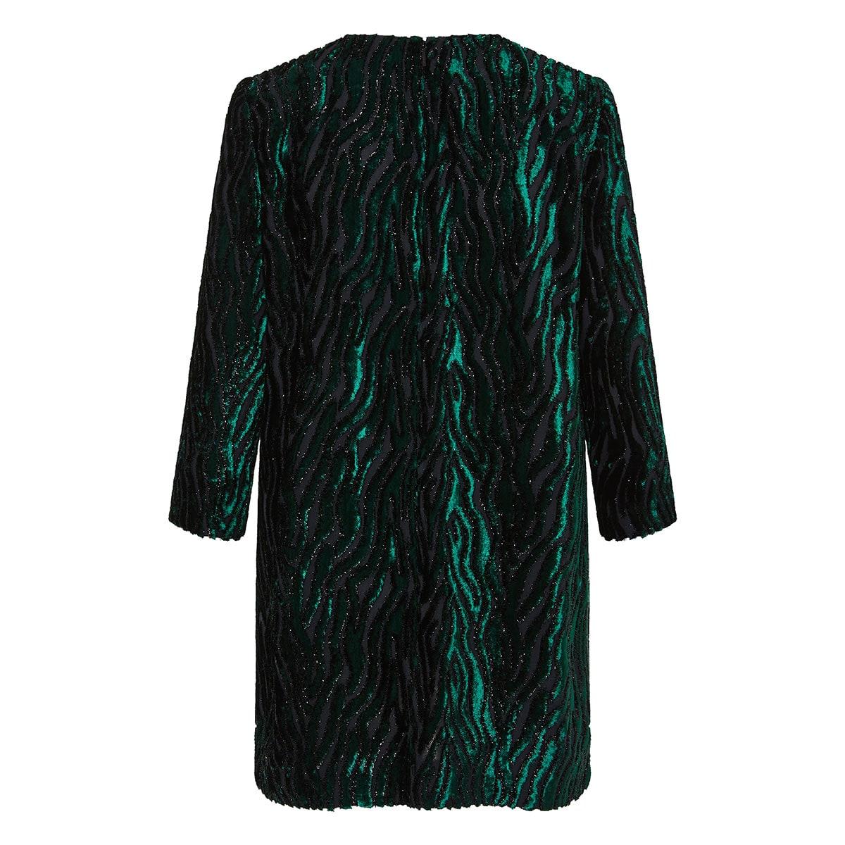 Jacquard lamè velvet mini dress