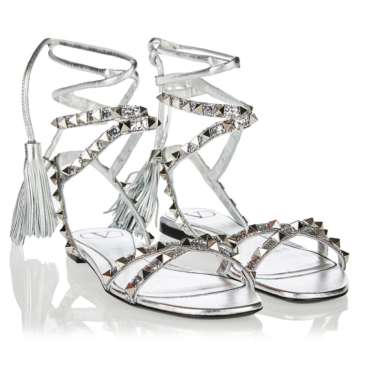 Rockstud Flair glitter sandals