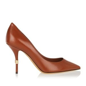 DG logo leather pumps