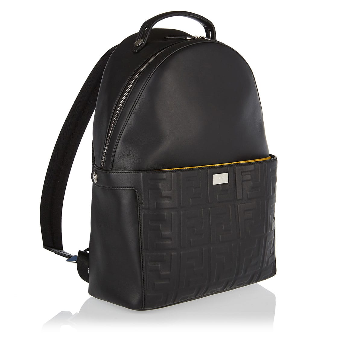 Peekaboo FF embossed leather backpack