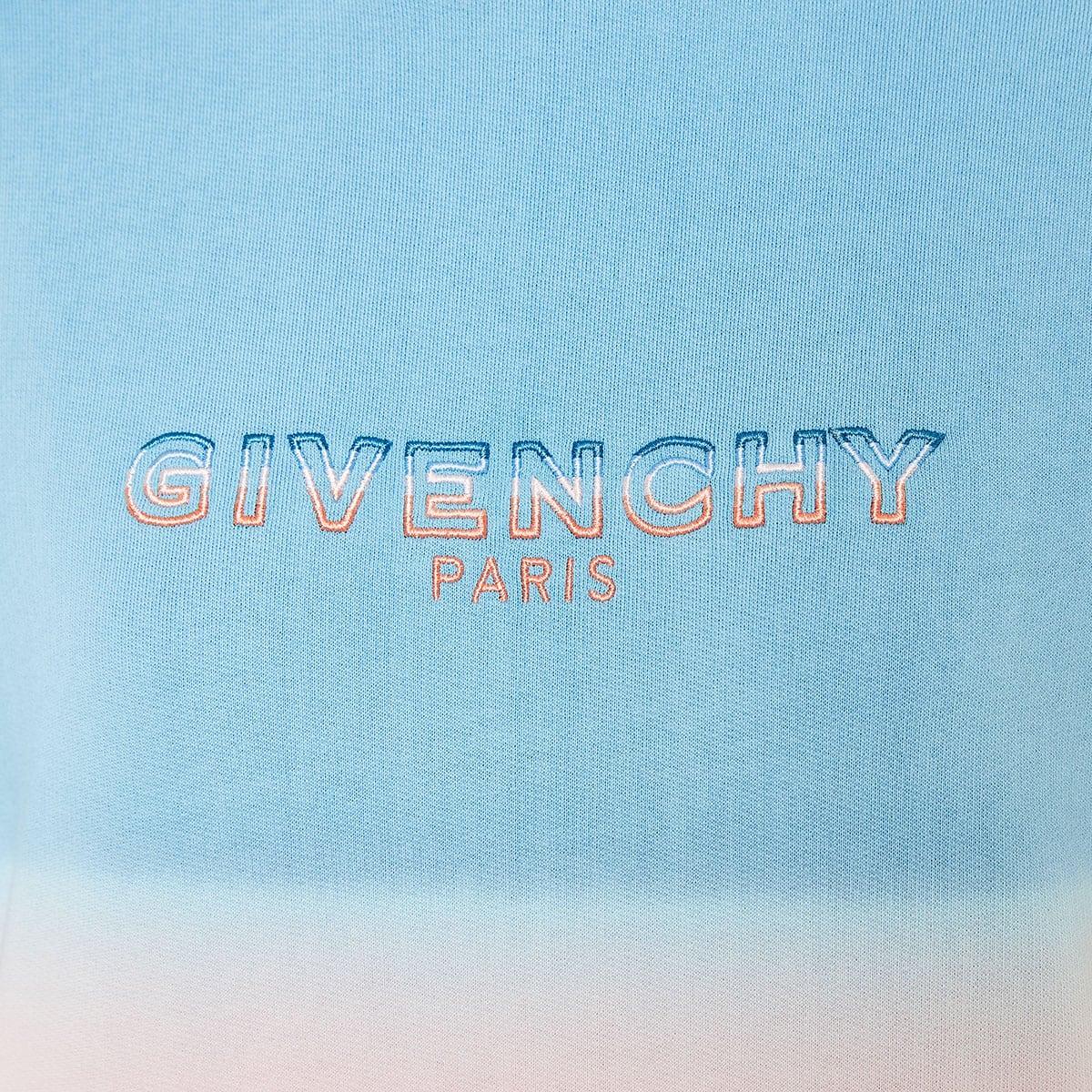 Oversized tie-dyo logo hoodie