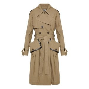 Trench coat with oversized pockets