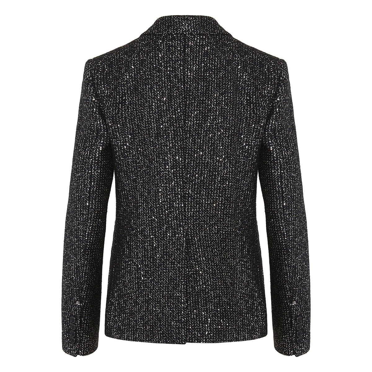 Sequin tweed blazer