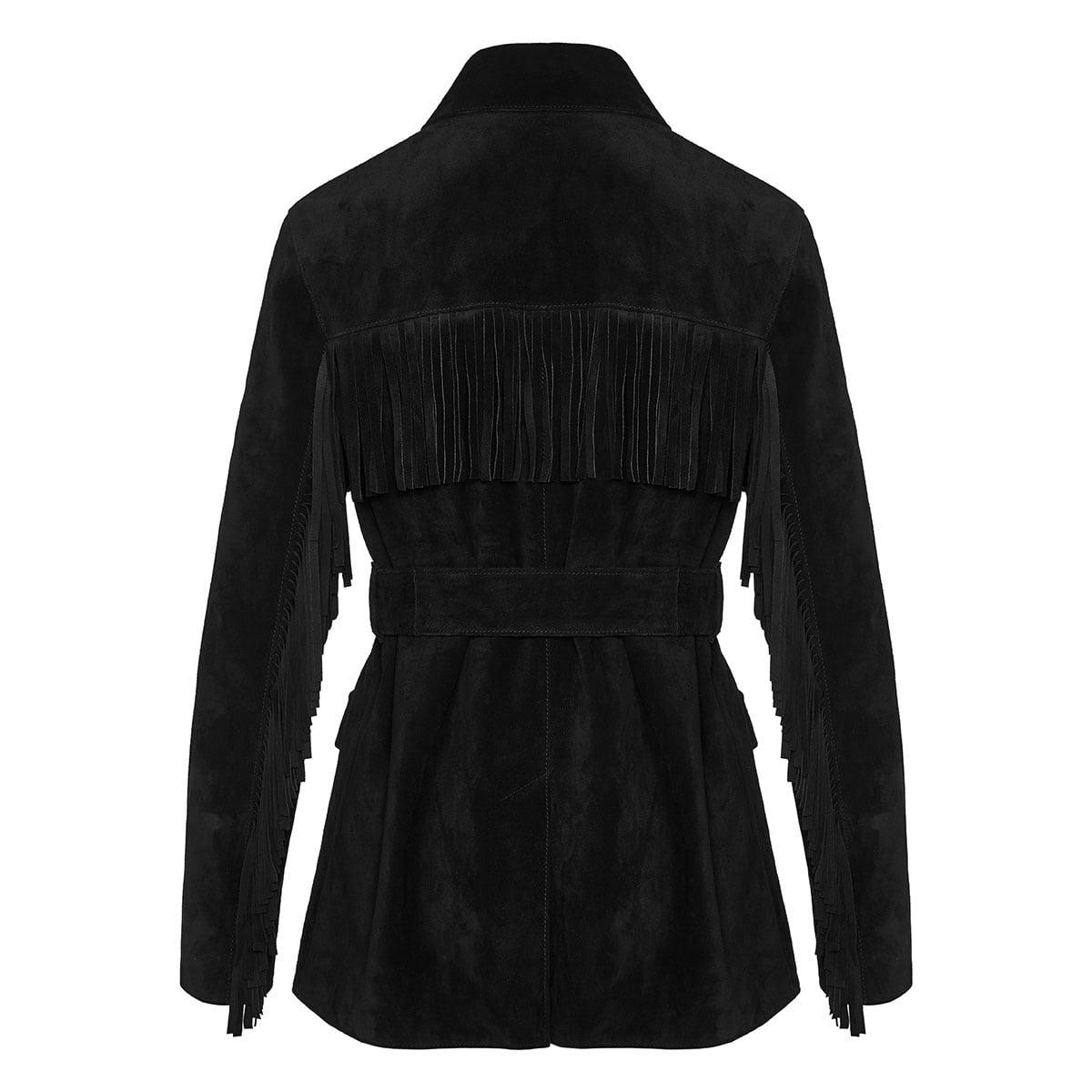 Fringed suede jacket