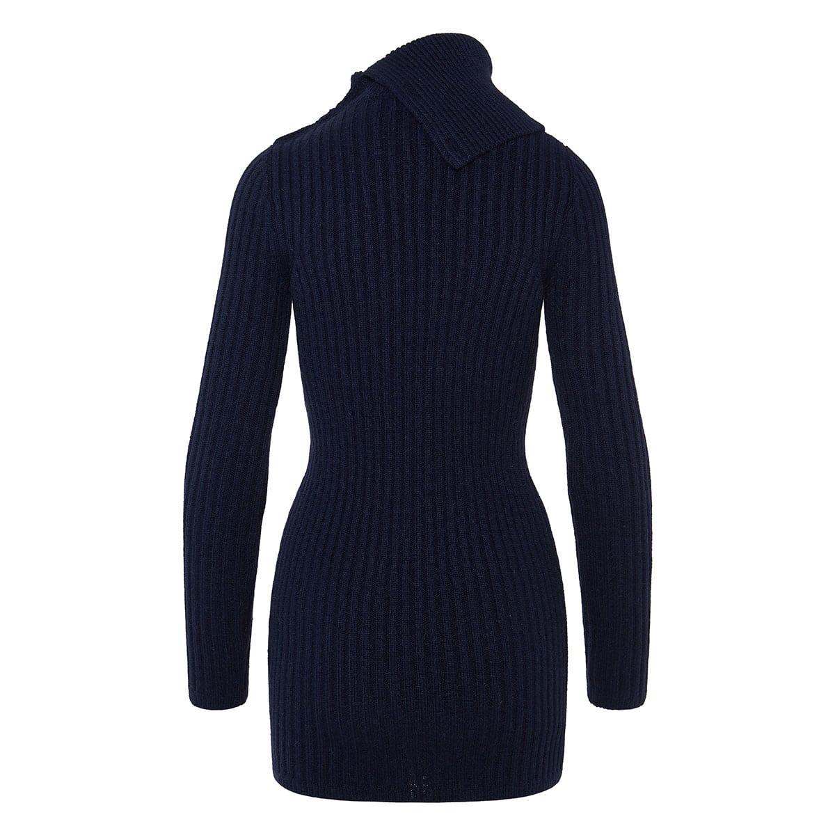 Ribbed-knit mini dress