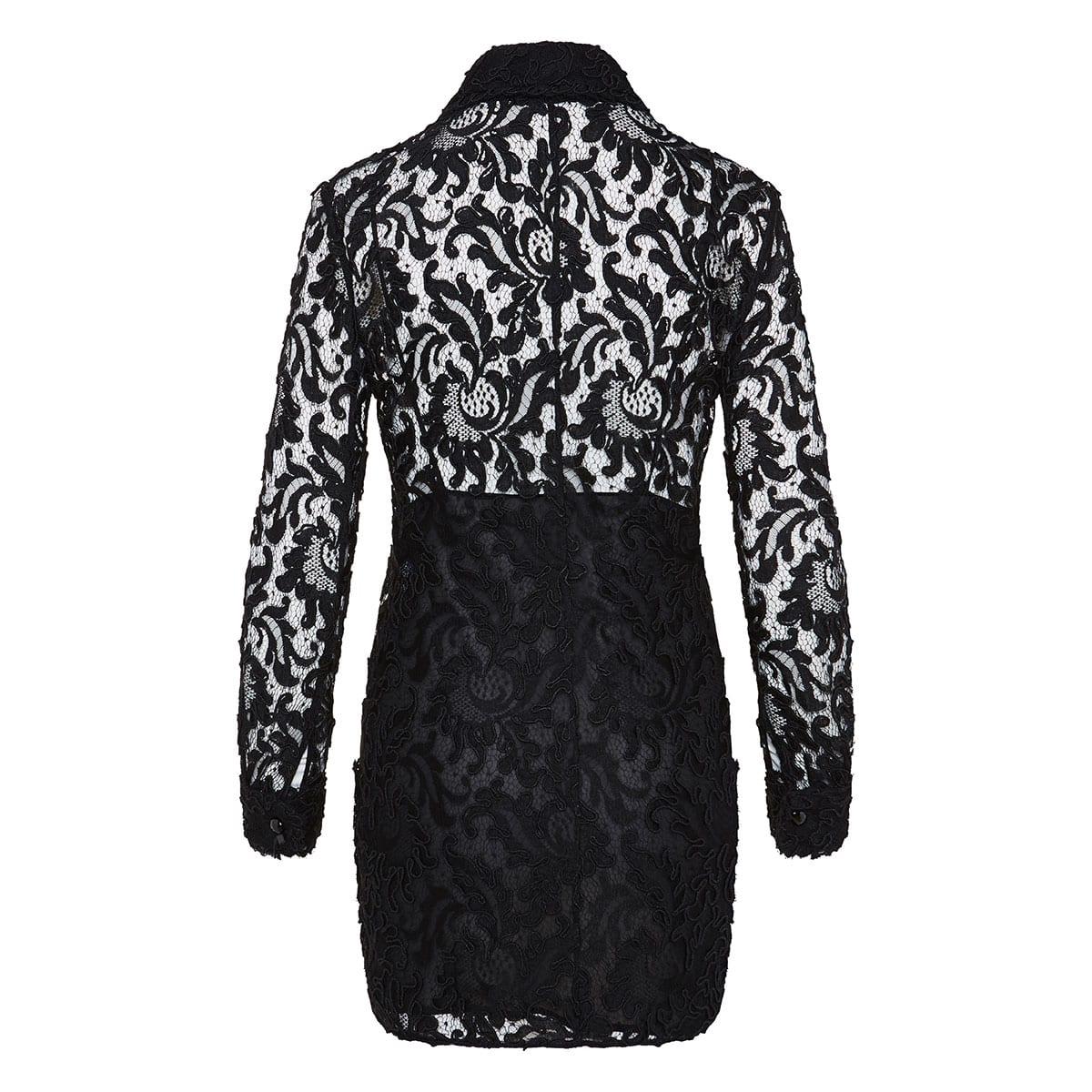 Mini lace shirt dress