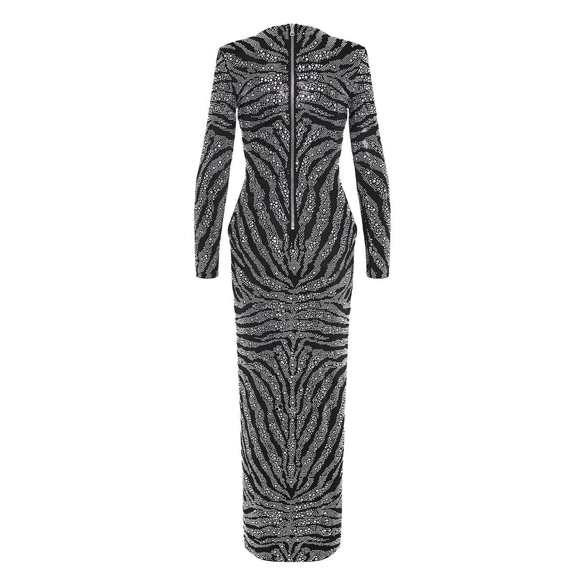 Crystal-embellished long dress