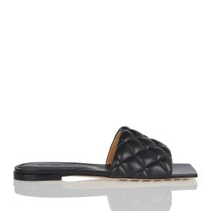 Quilted leather slides