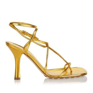 BV Line metallic leather sandals