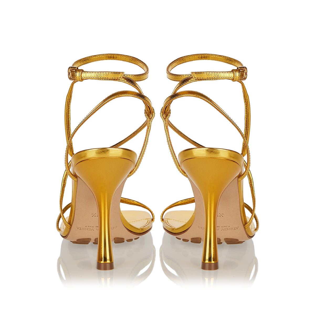 BV Line metallic leather sandals