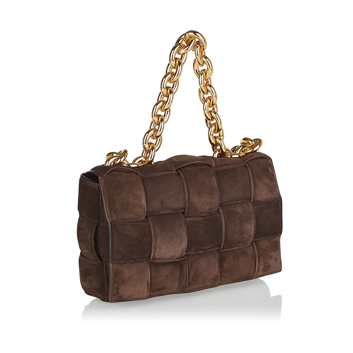 The Chain Cassette suede bag