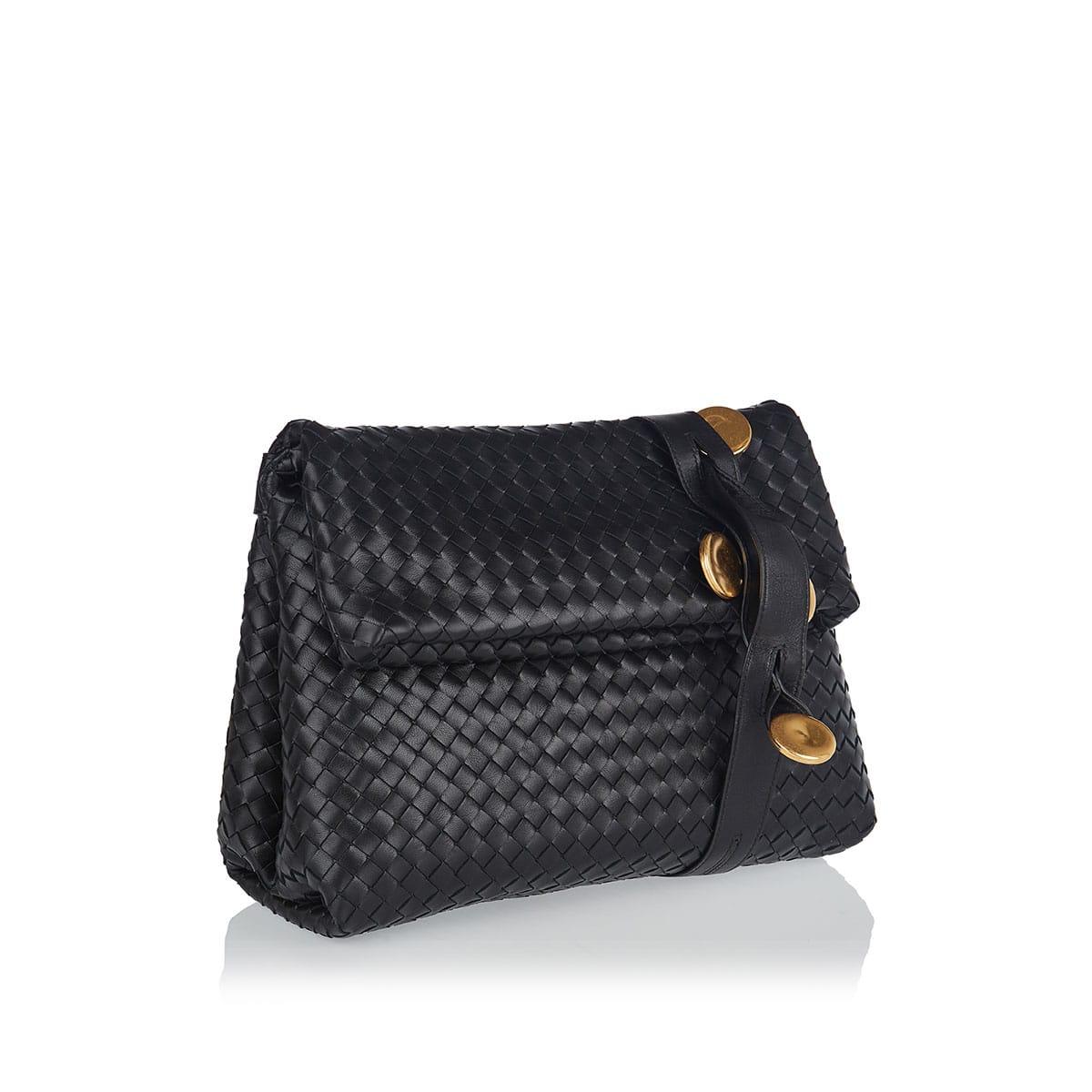 BV Fold embellished Intrecciato bag