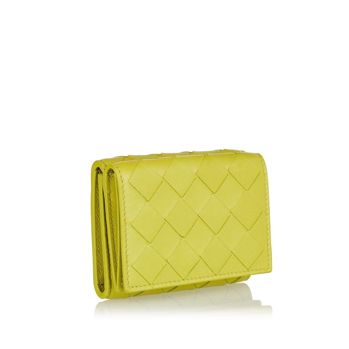 Tri-fold Intrecciato mini wallet
