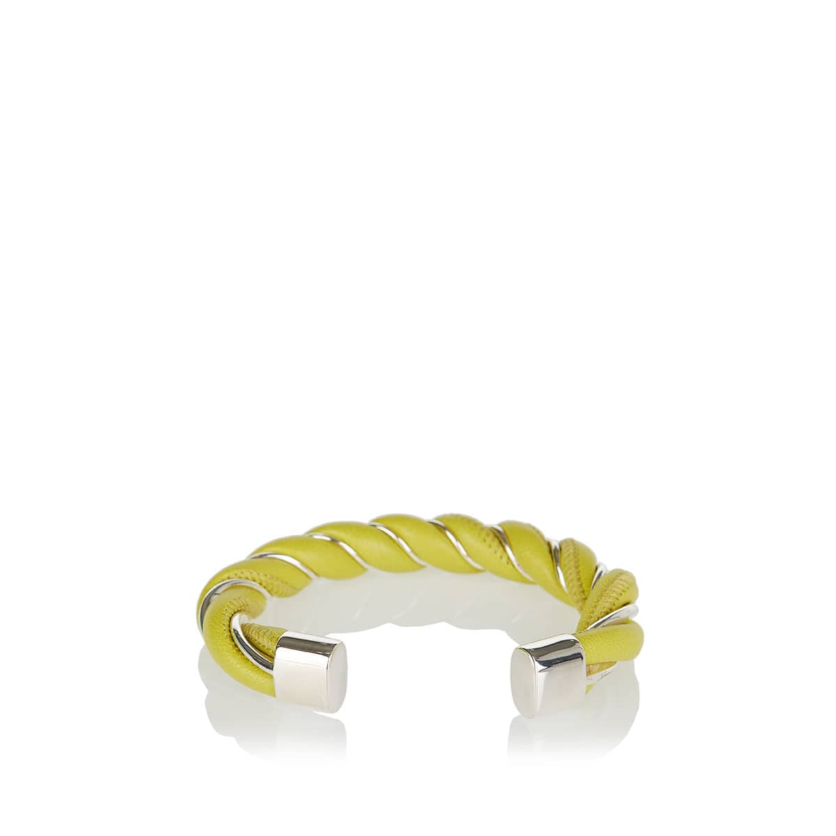 Twisted leather bracelet