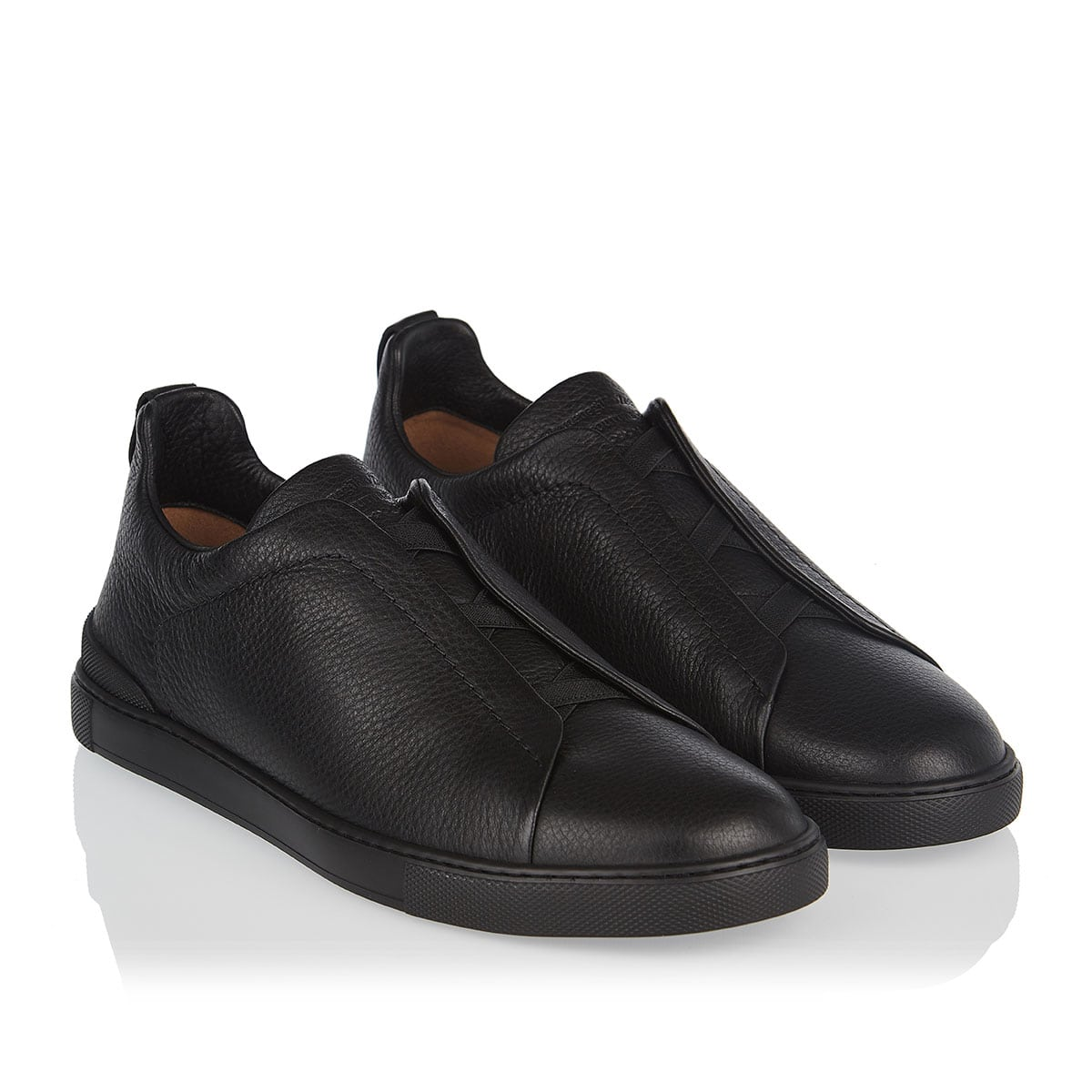Triple-Stitch slip-on leather sneakers