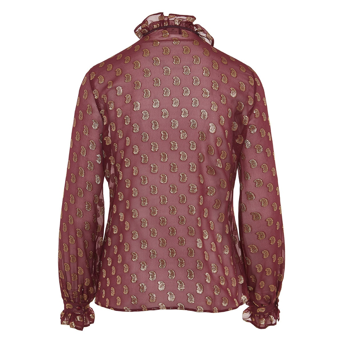Lurex paisley silk shirt