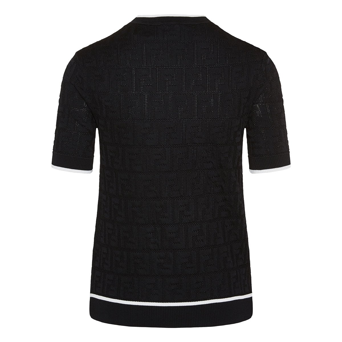 FF short-sleeved jacquard sweater