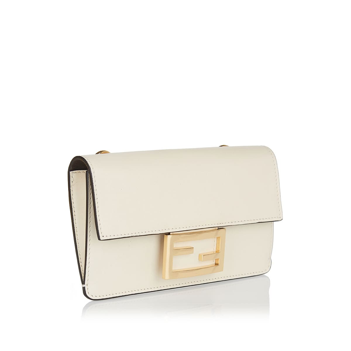 Baguette flat leather mini bag
