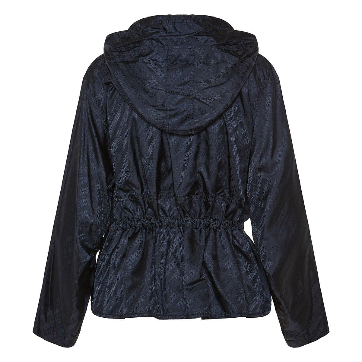 Jacquard nylon logo jacket