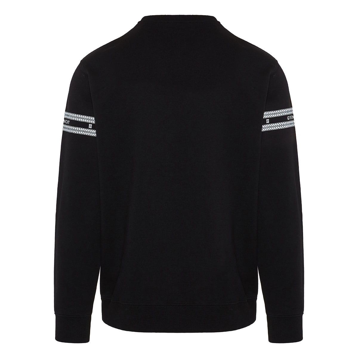 Chain print logo sweatshirt