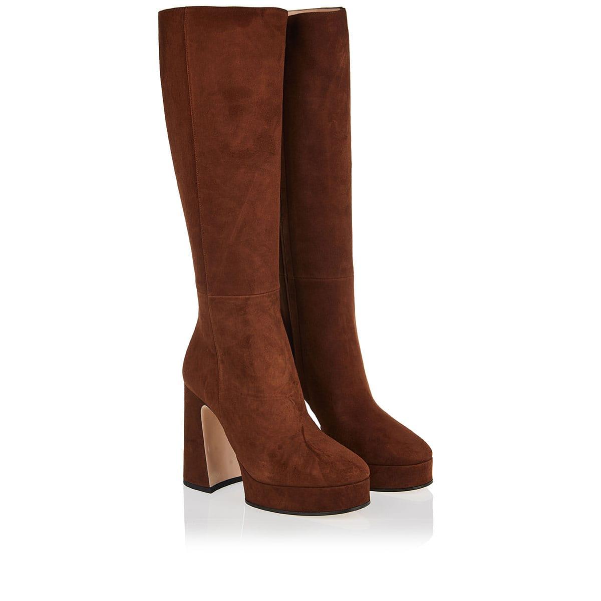 Madame suede platform boots