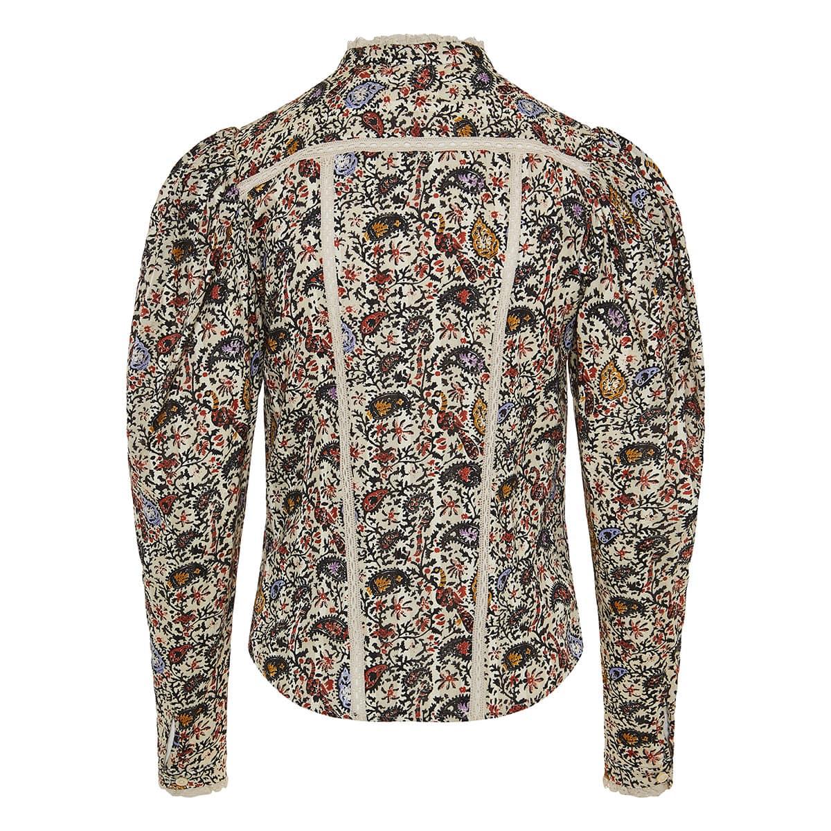 Reafi puff-sleeve paisley shirt