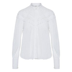 Izae ruffled crinkled shirt