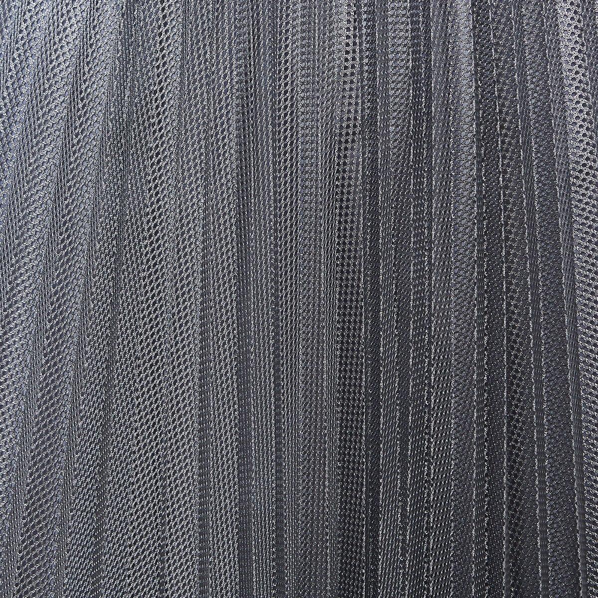 Metallic-mesh pleated midi skirt