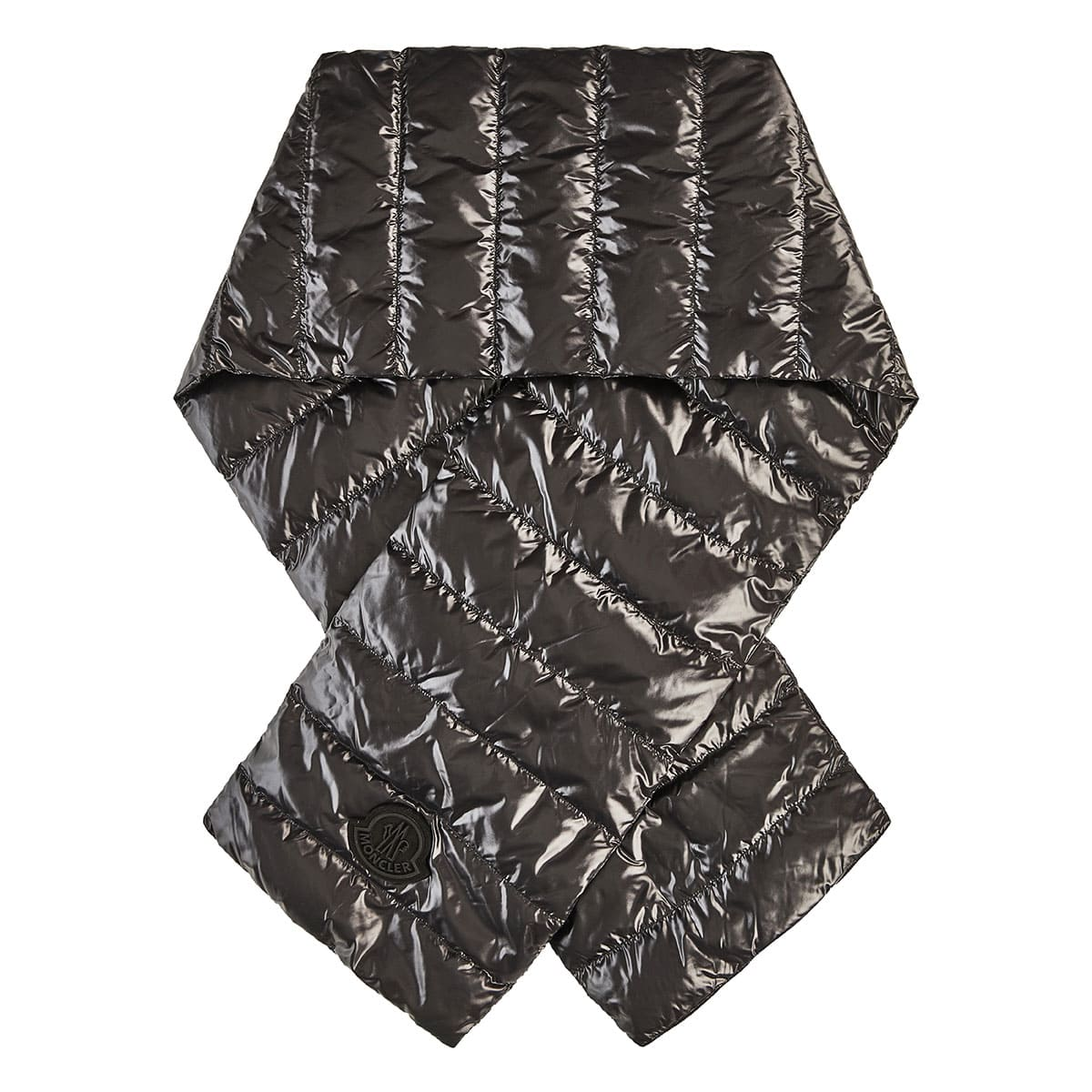 Quilted puffer scarf
