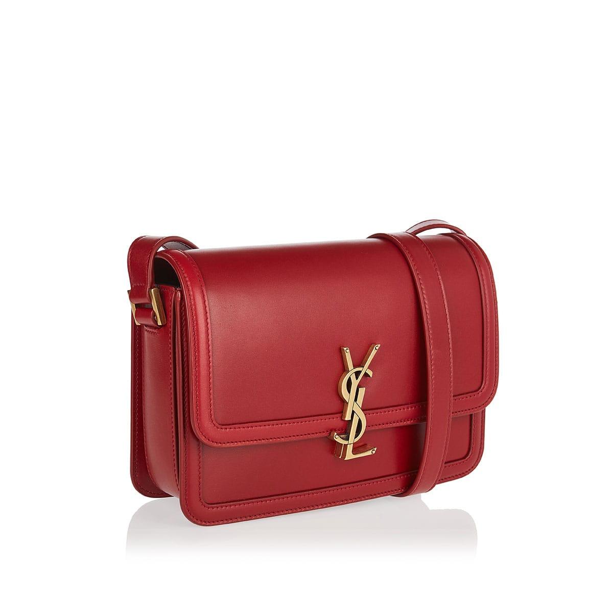 Solferino leather satchel bag