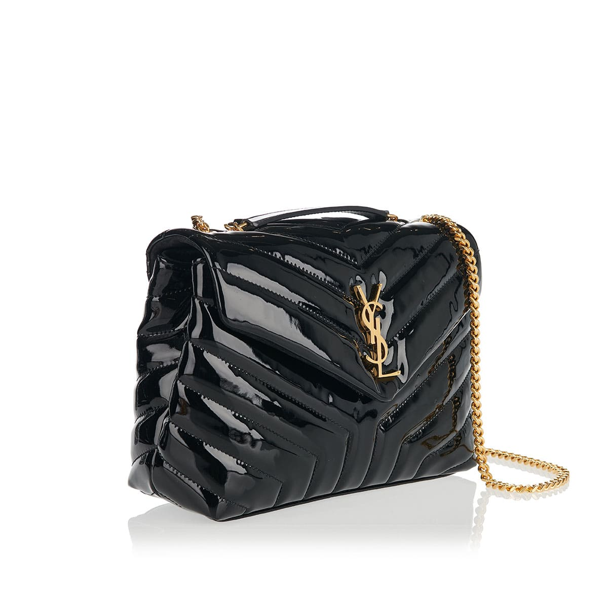 Loulou small quilted patent bag