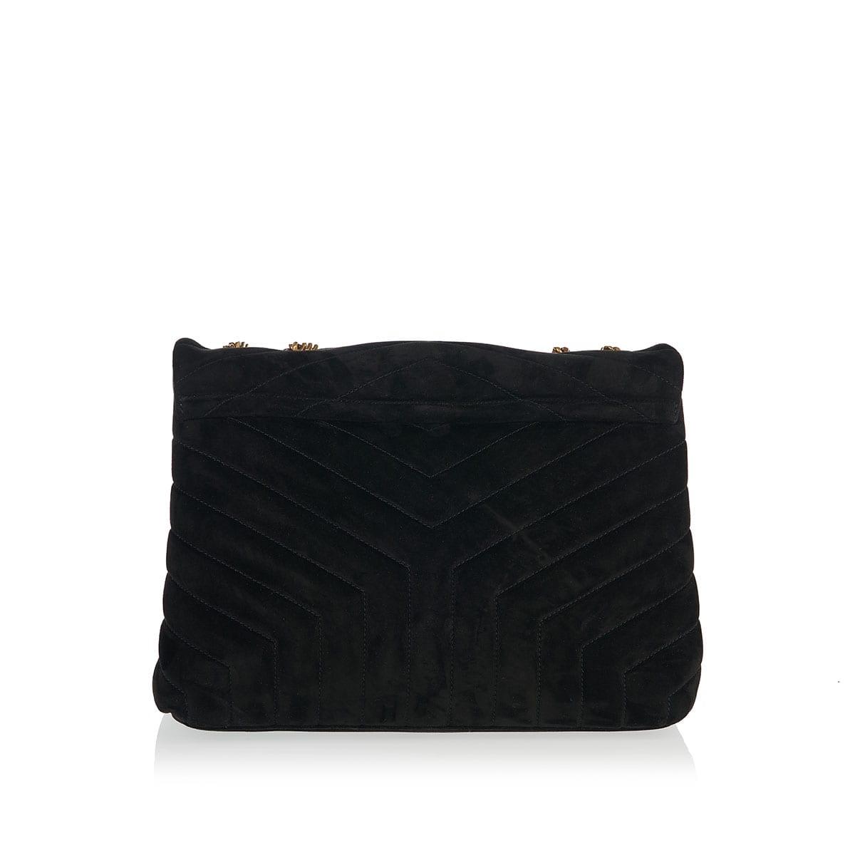 Loulou medium suede bag