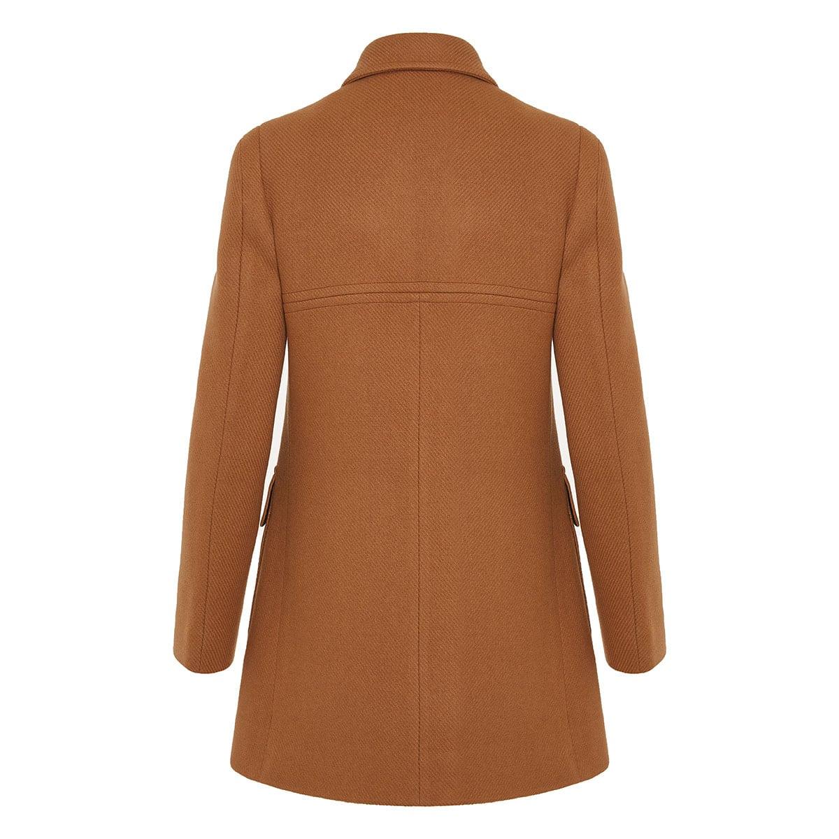 Nyla double-breasted wool coat