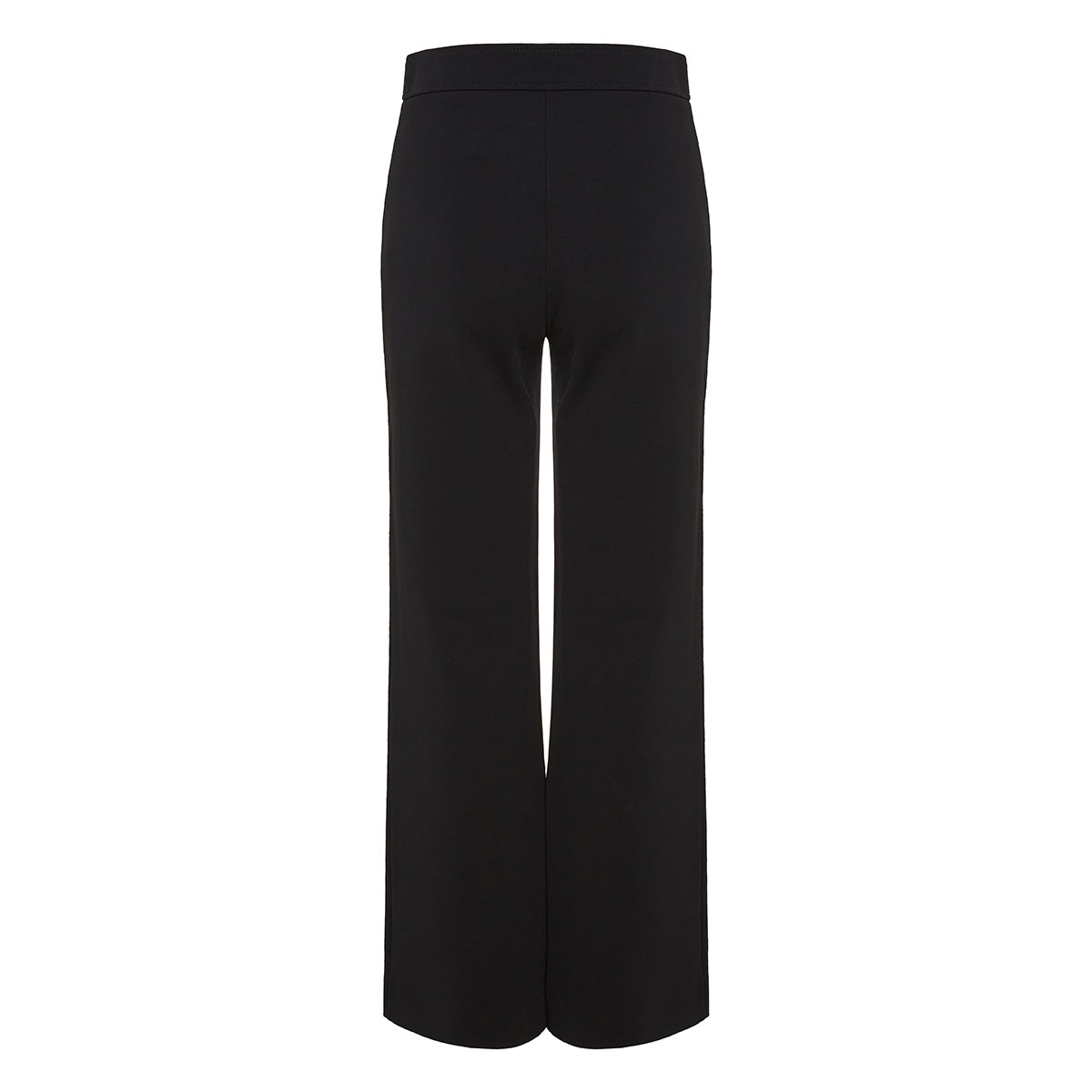 V-logo cropped wide-leg trousers