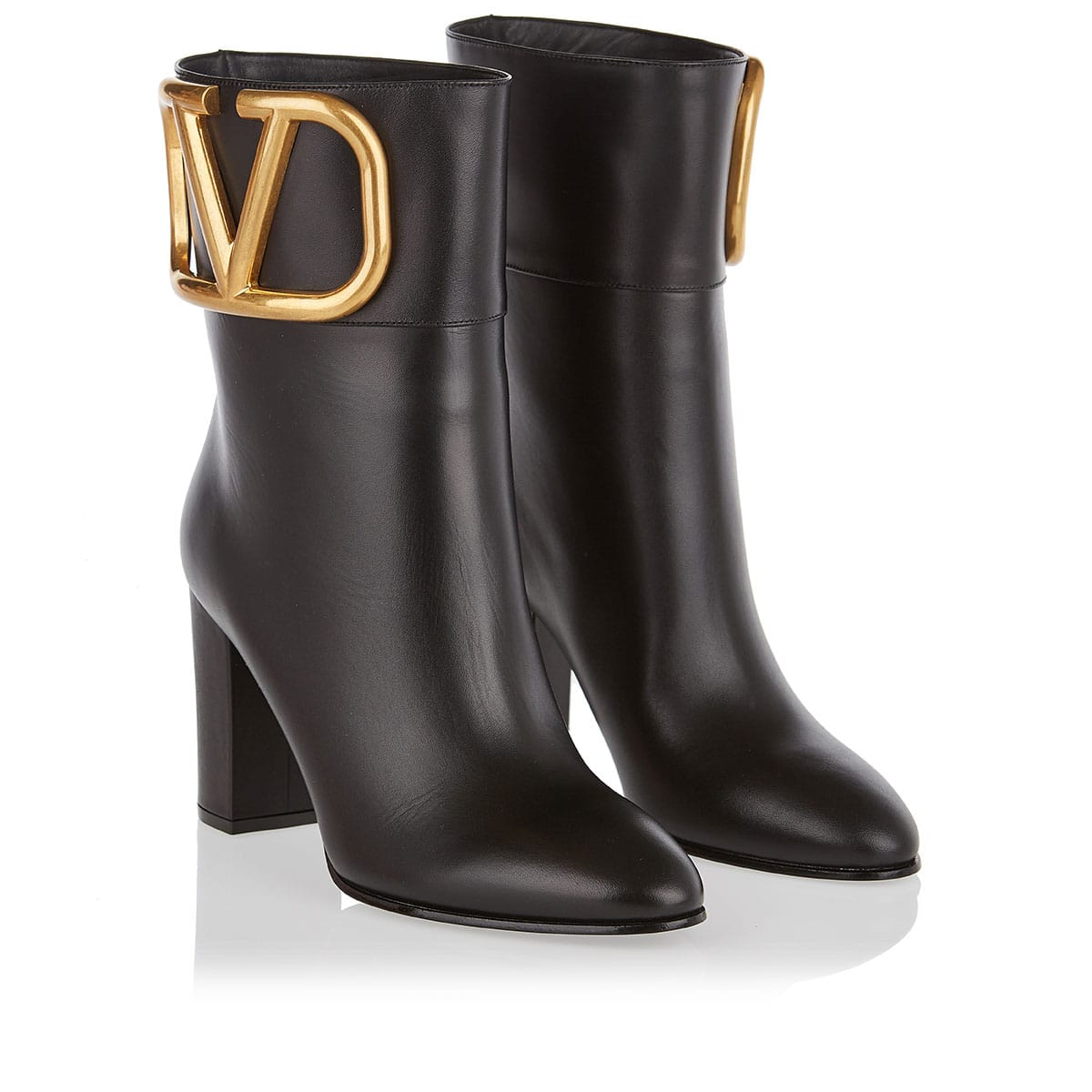 Supervee leather ankle boots