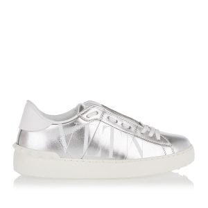 VLTN Open metallic leather sneakers