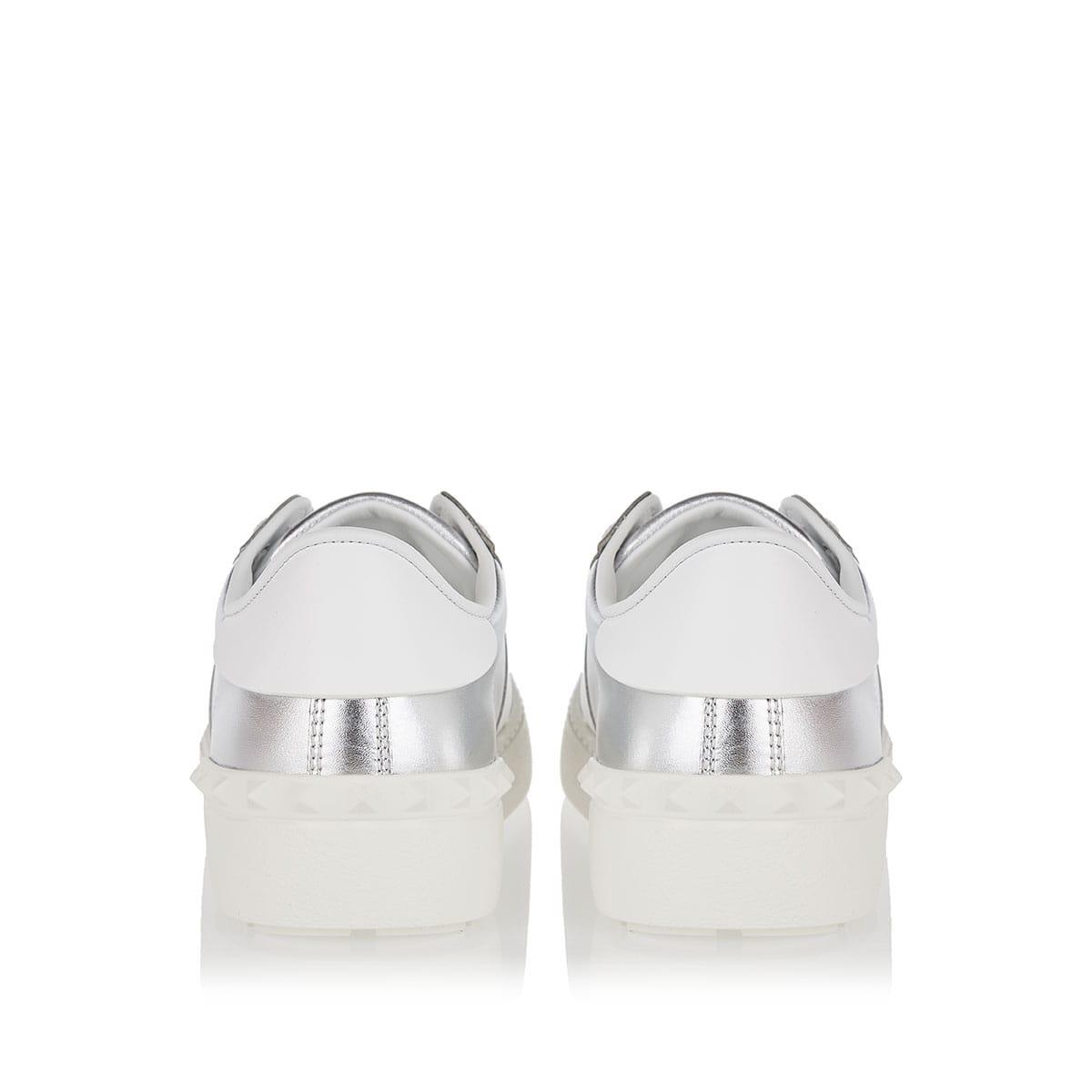 VLTN Open metallic leather sneakers