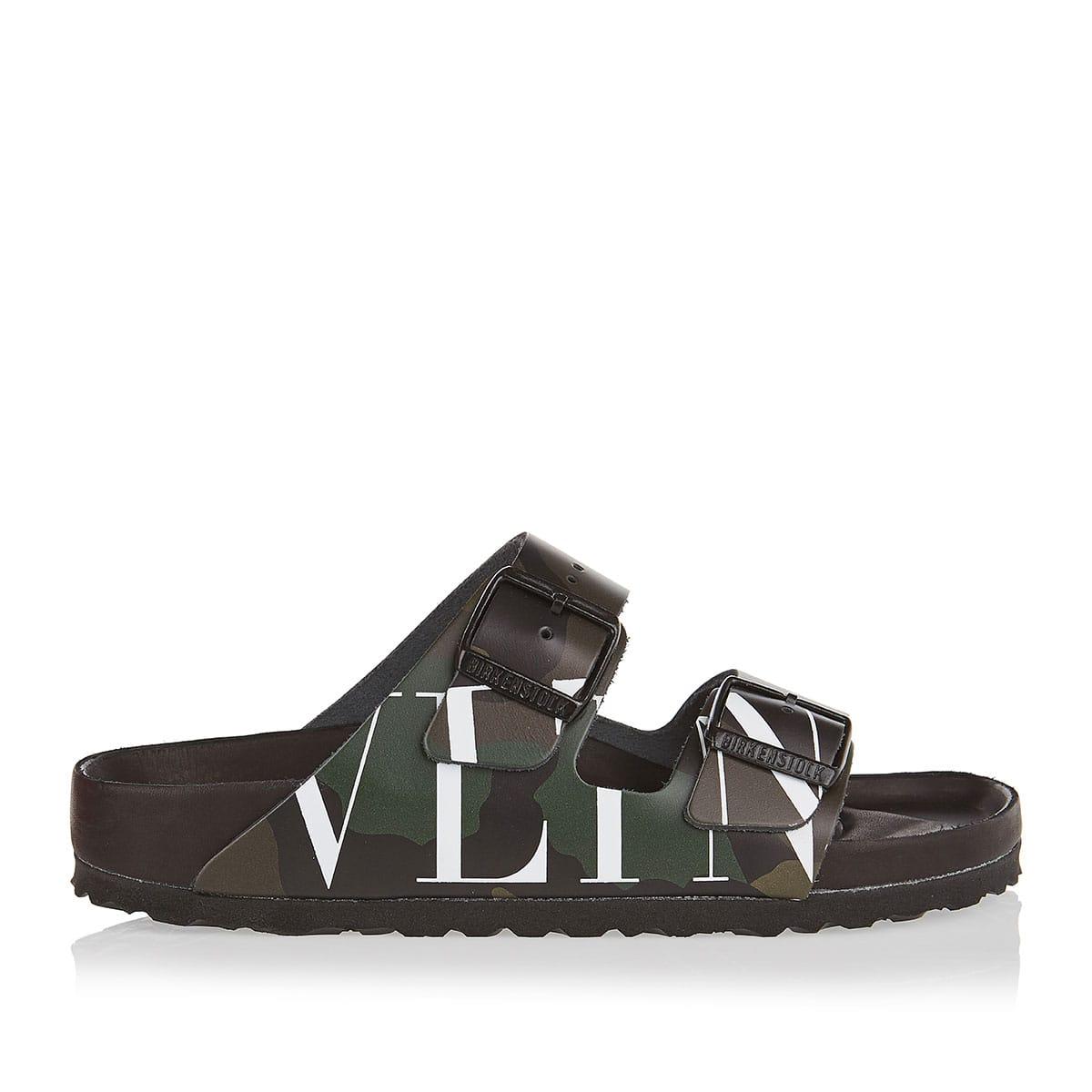 X Birkenstock VLTN camouflage slides