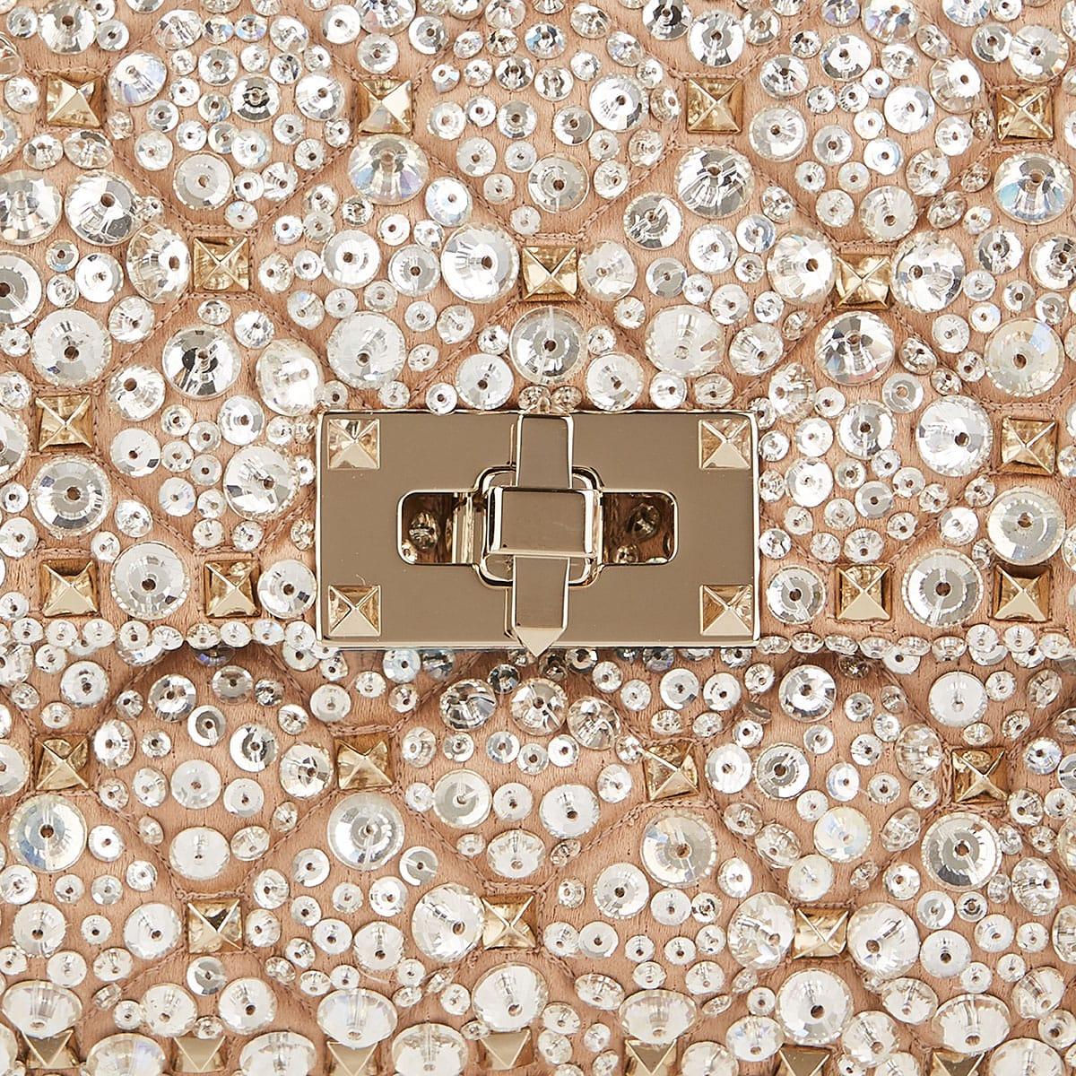 Crystal-embellished small Rockstud bag