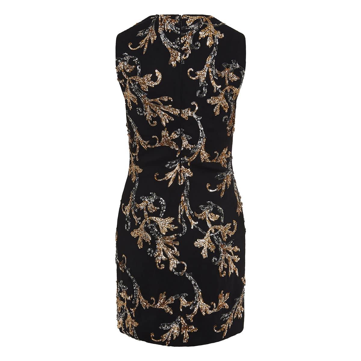 Sequin-embellished mini dress