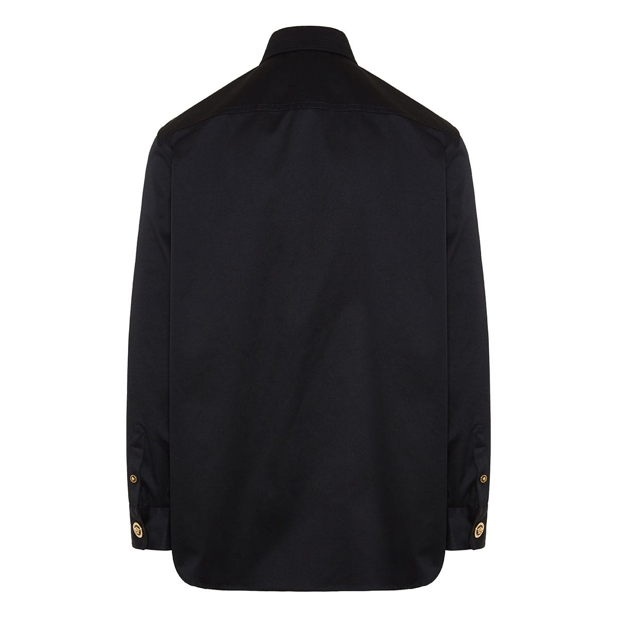 Overshirt with Medusa buttons