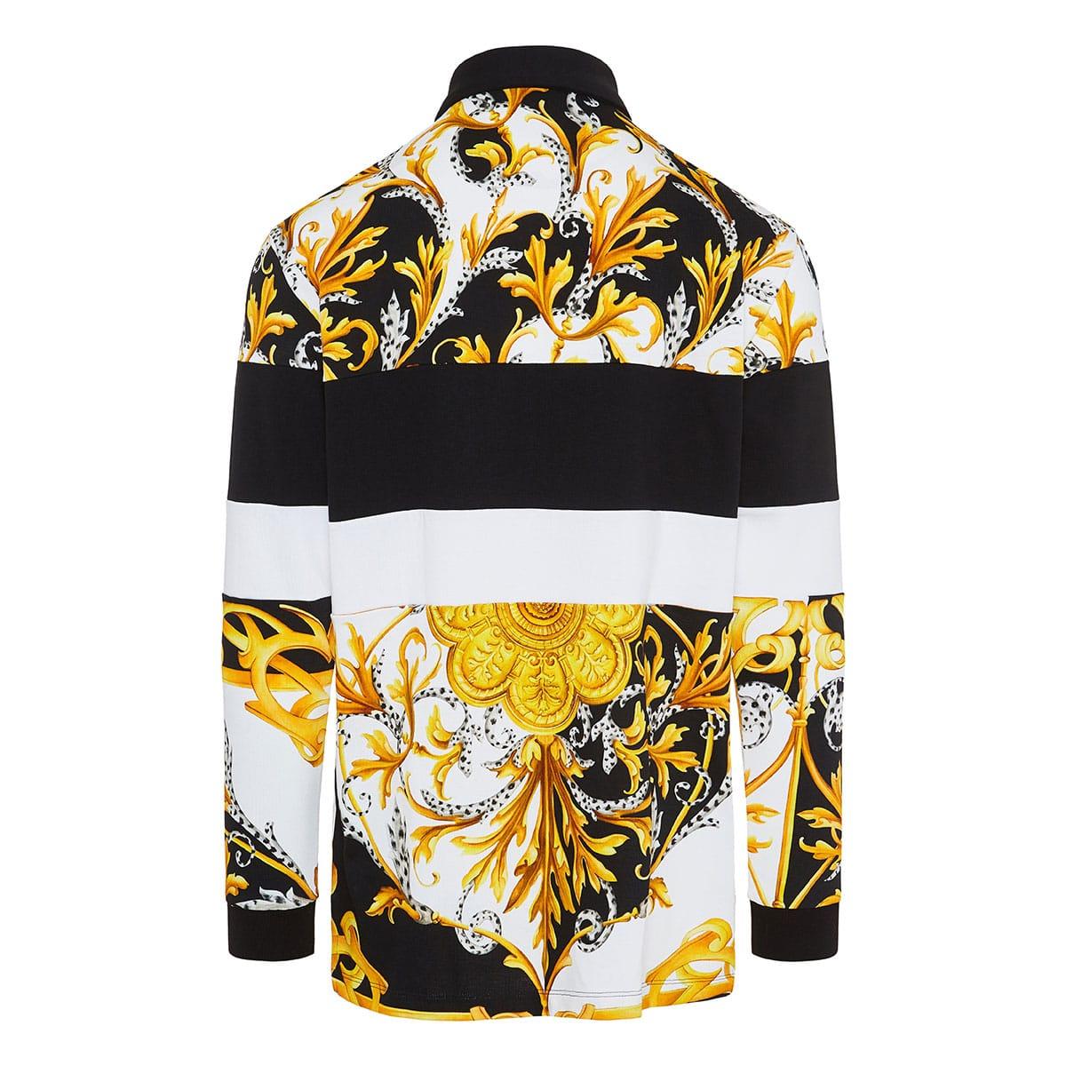 Baroque print logo polo shirt