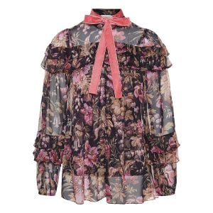 Lucky frilled floral shirt