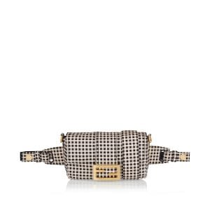 Baguette checked belt bag