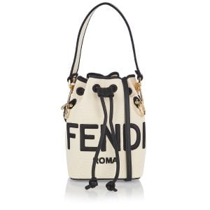 Mon Tresor mini logo canvas bucket bag