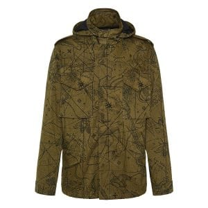 Astral printed parka jacket