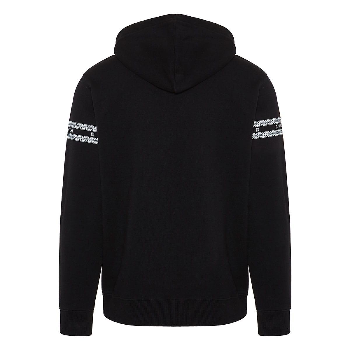 Chain print logo hoodie